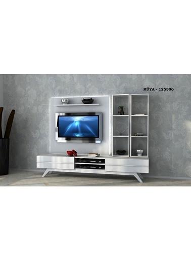 Sanal Mobilya Rüya 125560 Tv Ünitesi Beyaz Beyaz